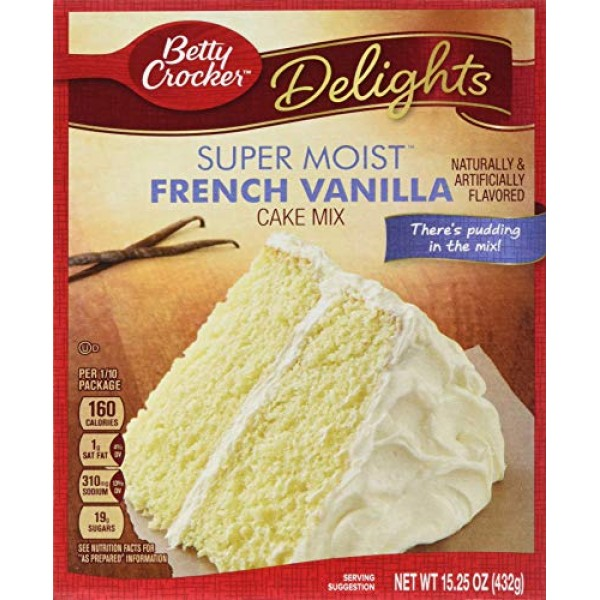 Betty Crocker Supermoist French Vanilla Cake Mix, 15.25 Ounce --...