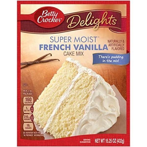 Betty Crocker THREE 3 Cake Bundle Super Moist French Vanilla C...