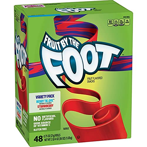Fruit by the Foot, Variety Pack 0.75 oz, 48 pk. Berry Tie-Dye,...