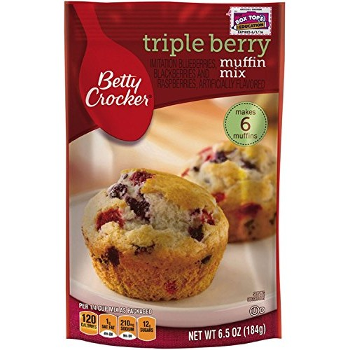 Triple Berry Muffin Mix 6.5 Oz 3 Pouches