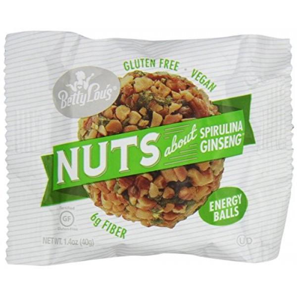 Betty Lous Energy Balls Nuts About Spirulina Ginseng - 12 Balls