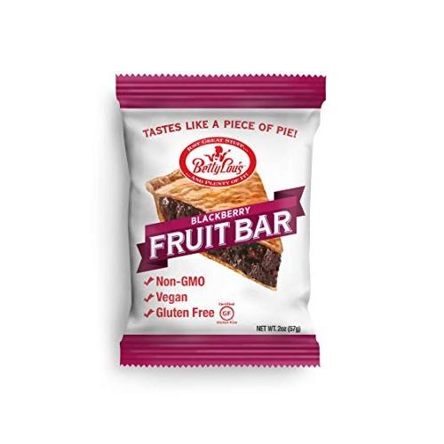 Betty Lous - Gluten-Free Fruit Bar Snack - Blackberry, 12 Bars