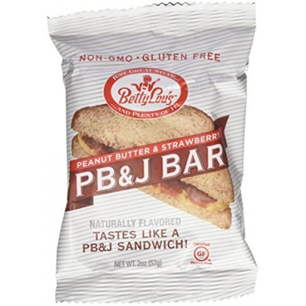 Betty Lous PB&J Bar Strawberry 12 pack