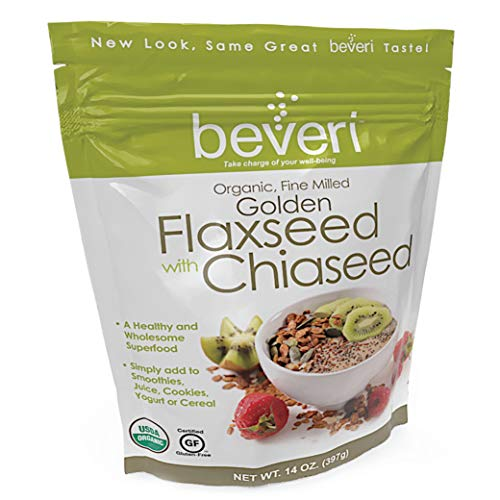 Beveri Nutrition Fine Milled Golden Flax Seed with Chia, 14 Ounc...