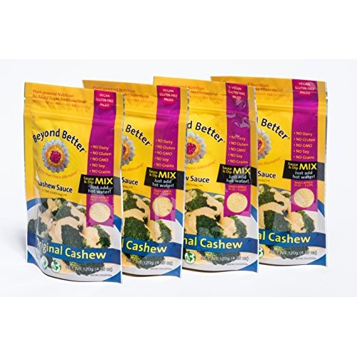 Beyond Better Cashew Dip and Sauce Mix 4 Pack Cheese Alternati...