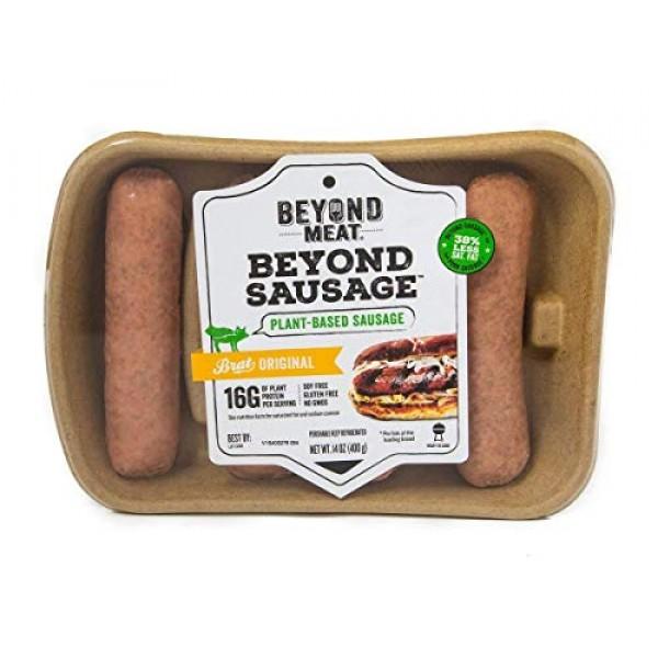 Beyond Meat Beyond Sausage Brat Original,, 14 Oz Pack Of 8