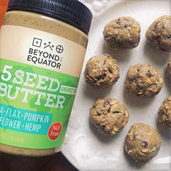 Beyond the Equator 5 Seed Butter Unsweetened- Peanut Free, Tree ...