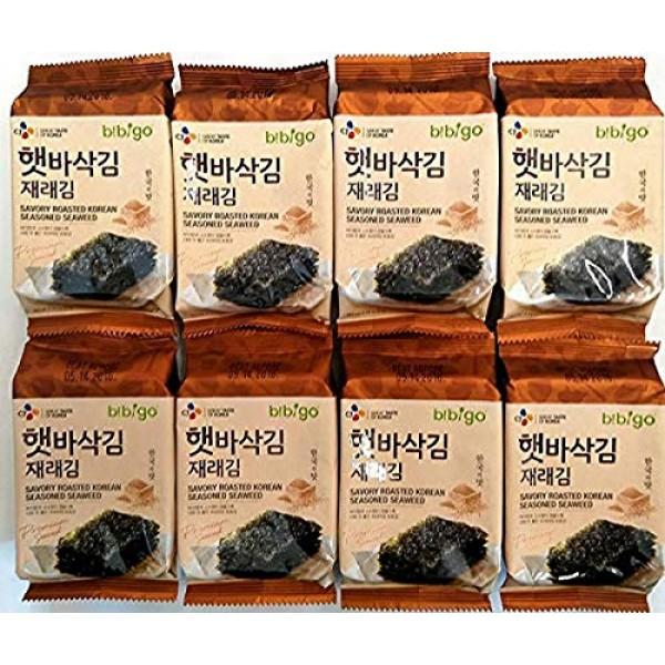 bibigo Bibigo Premium Roasted Seaweed Snack, 5g, Seasoned with S...