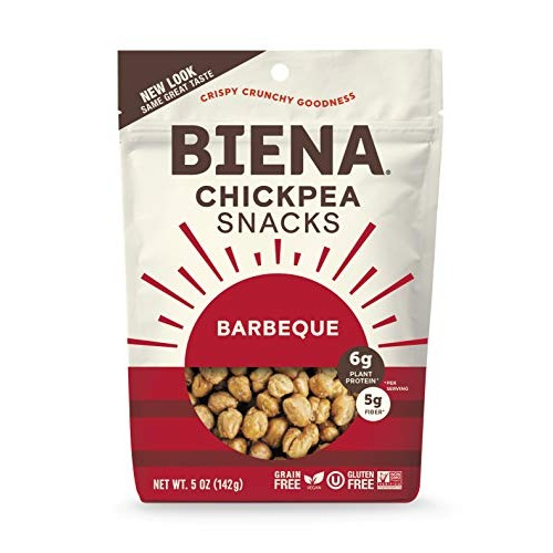 Biena Chickpea Snacks, Barbeque, 5 Ounce