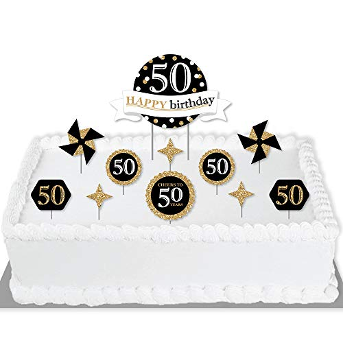 Big Dot of Happiness Adult 50th Birthday - Gold - Birthday Party...
