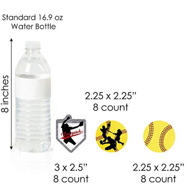 Big Dot of Happiness Grand Slam - Fastpitch Softball - Cupcake D...