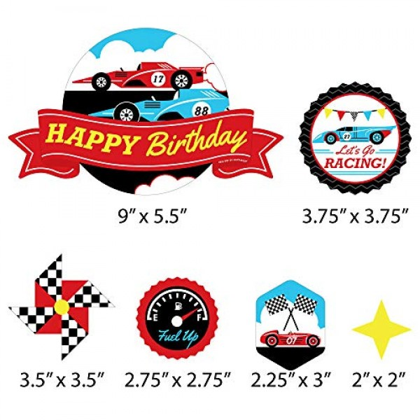 Big Dot of Happiness Let's Go Racing - Racecar - Race Car Birthd...