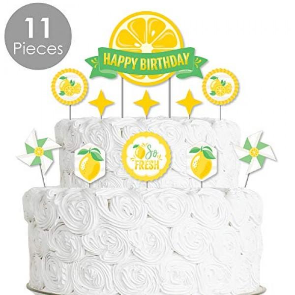 Big Dot of Happiness So Fresh - Lemon - Citrus Lemonade Birthday...