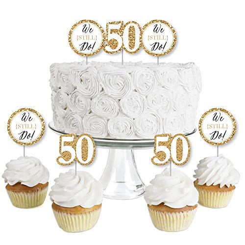 We Still Do - 50th Wedding Anniversary - Dessert Cupcake Toppers...