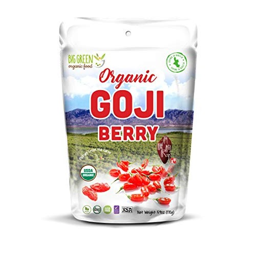 Big Green Organic Food- Organic Goji Berry, Pre-Washed, Ready-to...