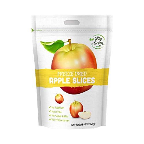 Big Green Organic Food- Freeze-Dried Apple, Healthy Snack, 12