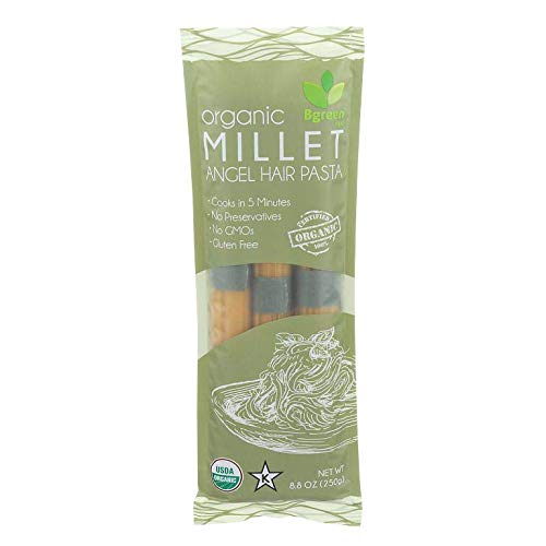 Big Green Organic Food- Organic Millet Angel Hair Pasta, 8.8oz, ...