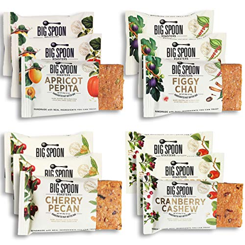 Big Spoon Roasters Nut Butter Bars Variety Pack - Cherry Pecan, ...