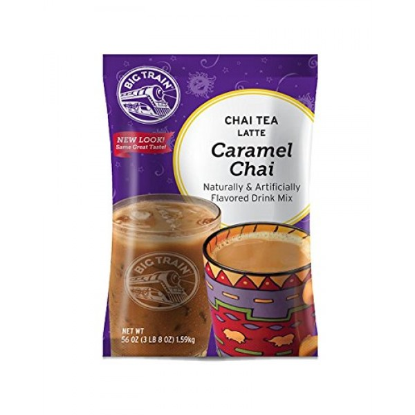 Big Train Chai Tea Latte, Caramel, 56 Ounce, Powdered Instant Ch...