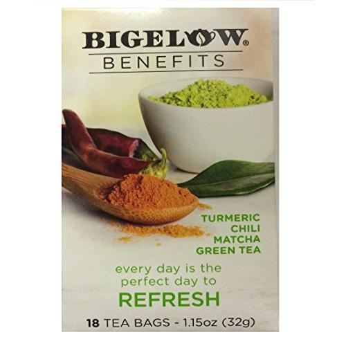 Bigelow Benefits Turmeric,Chili, Matcha green tea,Pack of 1