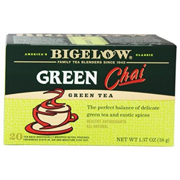 Bigelow Green Chai Tea Pack of 3