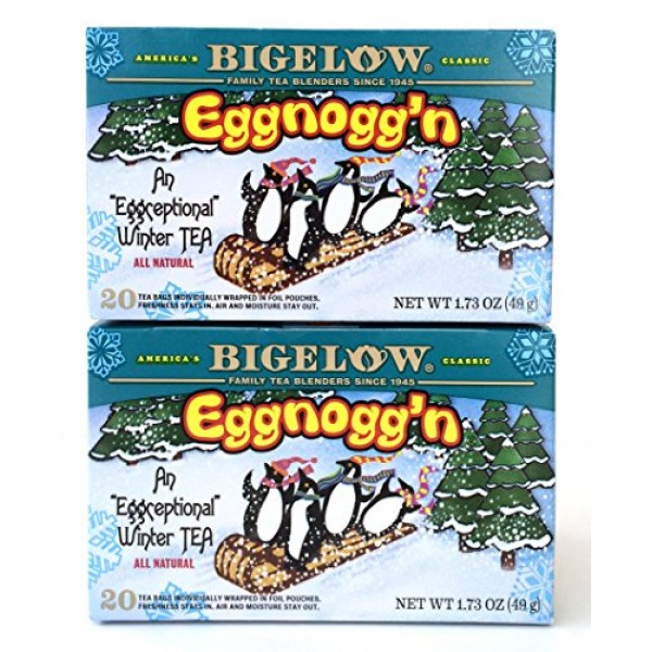 Bigelow Eggnoggn Tea, 1.73 Box Pack of 2