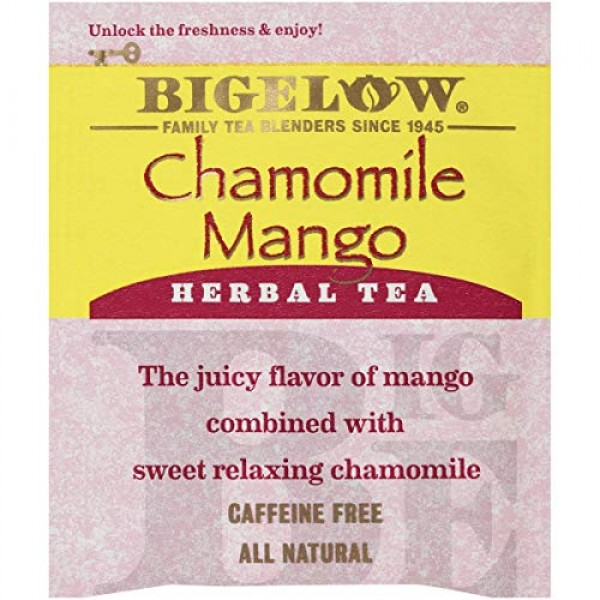 Bigelow Chamomile Mango Herbal Tea 20-Count Boxes Pack of 6, 1...