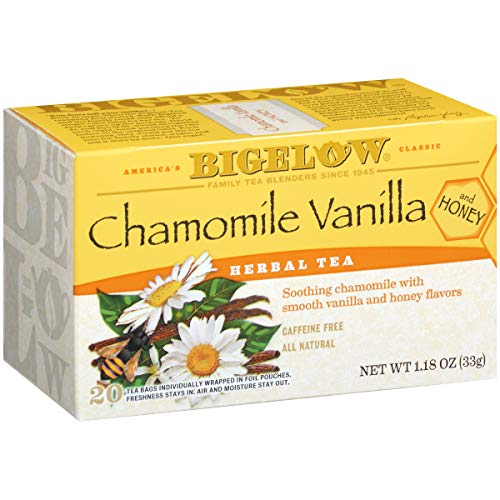Bigelow Chamomile Vanilla with Honey, 20 count Box Pack of 6 C...