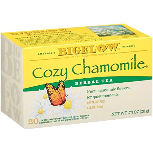 Bigelow Cozy Chamomile Herbal Tea Bags, 20 Count Box Pack of 6...