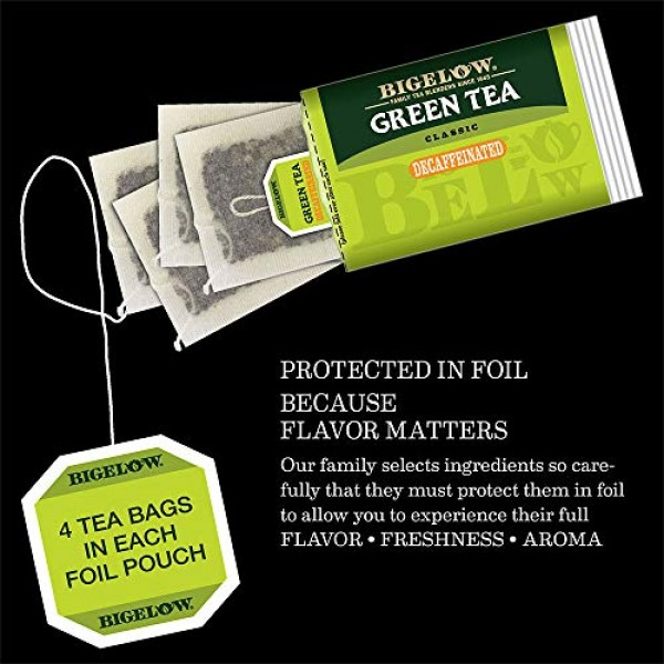 Bigelow Decaffeinated Green Tea Bags, 40 Count Box Pack of 6 D...