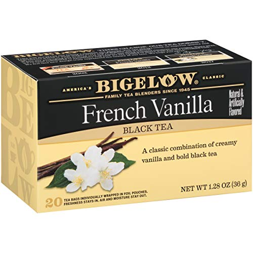 Bigelow French Vanilla Black Tea 20-Count Boxes Pack of 6, Ca...