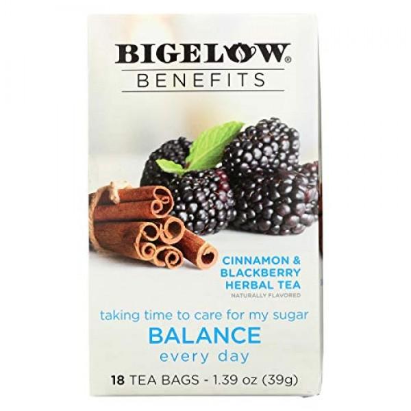 Bigelow Benefits Herbal Tea Pack of 2 Cinnamon & Blackberry He...