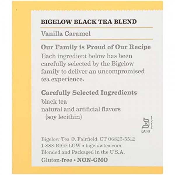 Bigelow Vanilla Caramel Black Tea Bags, 20 Count Box Pack of 6...
