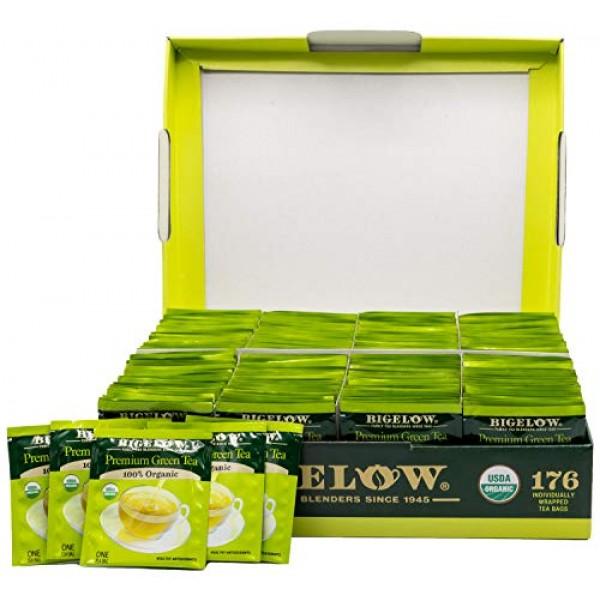 Bigelow Premium 100-Percent Organic Green Tea 176-Count Box