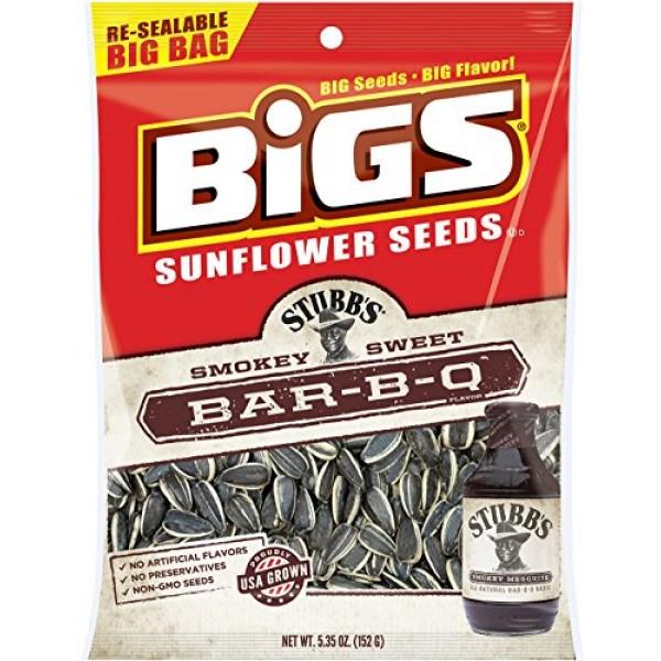 BIGS Stubbs Smokey Sweet Bar-B-Q Sunflower Seeds, 5.35-ounce ba...