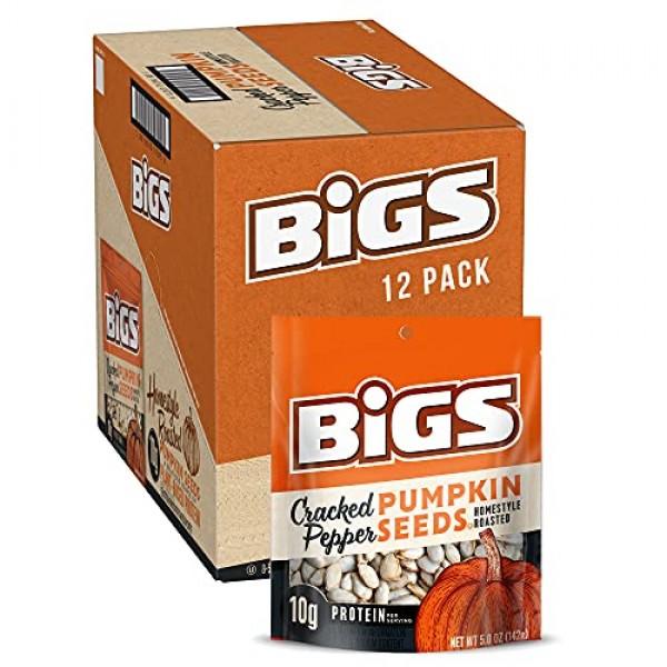 BIGS Cracked Pepper Homestyle Roast Pumpkin Seeds, 5-oz. Bag Pa...