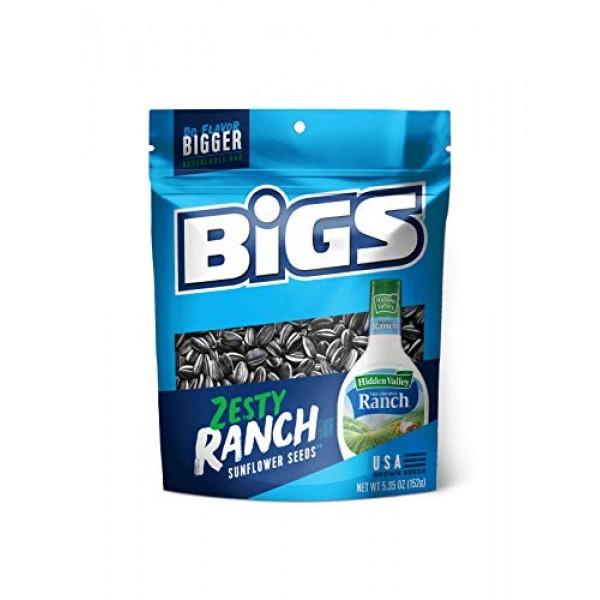 BIGS Hidden Valley Ranch Sunflower Seeds, 5.35-Ounce Bags Pack ...