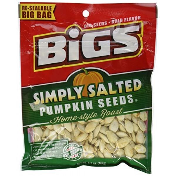Bigs, Pumpkin Seeds, Home-Style Roast, Simply Salted Pack of 4