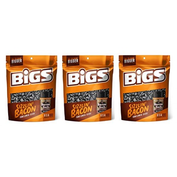 BIGS Sunflower Seeds 3.63 oz - Pack of 3 Sizzlin Bacon