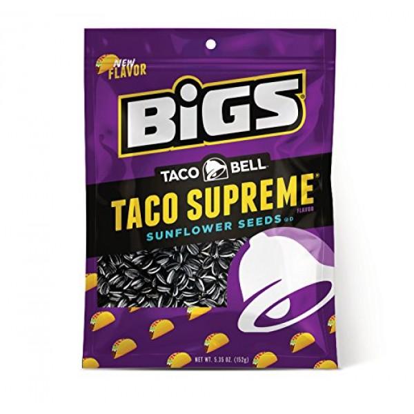 BIGS Taco Bell Taco Supreme Sunflower Seeds, 5.35-oz. Bag