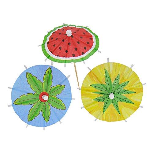 Bilipala Hawaiian Watermelon Paper Umbrellas Summer Cocktail Par...