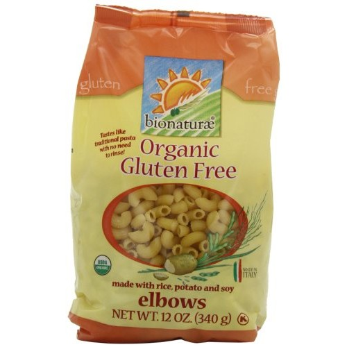 Bionaturae Organic Gluten Free Pasta, Elbow, 12 Ounce - Pack of 12