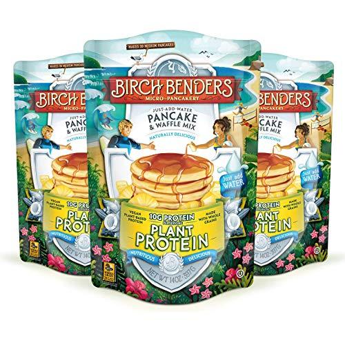 Birch Benders Plant Protein Pancake & Waffle Mix, Vegan, 10g Pla...