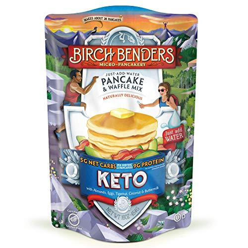 Keto Pancake & Waffle Mix by Birch Benders, Low-Carb, High Prote...