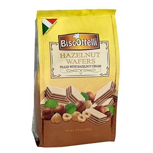 Biscottelli Wafer Cookies, Hazelnut Cream Filled, Imported from ...