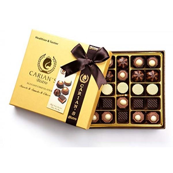 Bistro Chocolatier Assorted Chocolate Truffles Gold Gift Box wit...