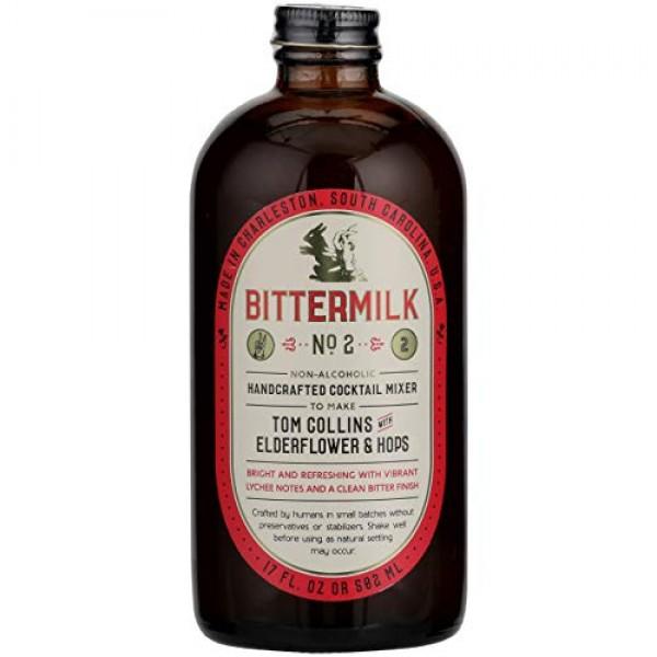 Bittermilk, Mixer No 2 Tom Collins With Elderflowers, 16.9 Fl Oz