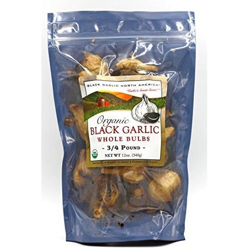 Black GarlicOrganic American Whole Bulbs (Large 3/4 Pound Bag)...