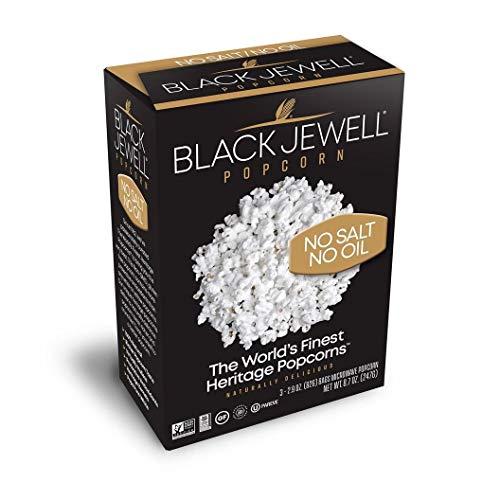 Black Jewell Premium Microwave Popcorn, No Salt No Oil, 3-Count,...
