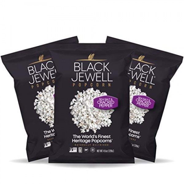 Black Jewell Sea Salt and Cracked Pepper Hulless Heirloom Popped...